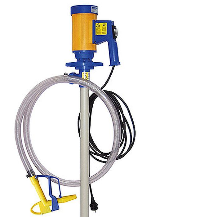Fasspumpen Set JP-280 - 230 V - 112 l/ min - PP-Pumpwerk mit Hastelloy-Antriebswelle