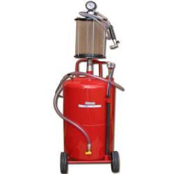 Gammal oljeavfallstank - 90 l tank - 0,8 bar - med oljenivåindikator
