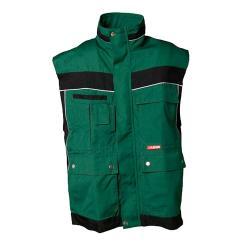 Restposten - Arbeitsweste - Gr. XXXL - grün/schwarz - 65 % Polyester, 35 % Baumwolle