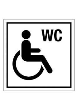 Dörrskylt WC handikapptoalett - 50 mm till 400 mm