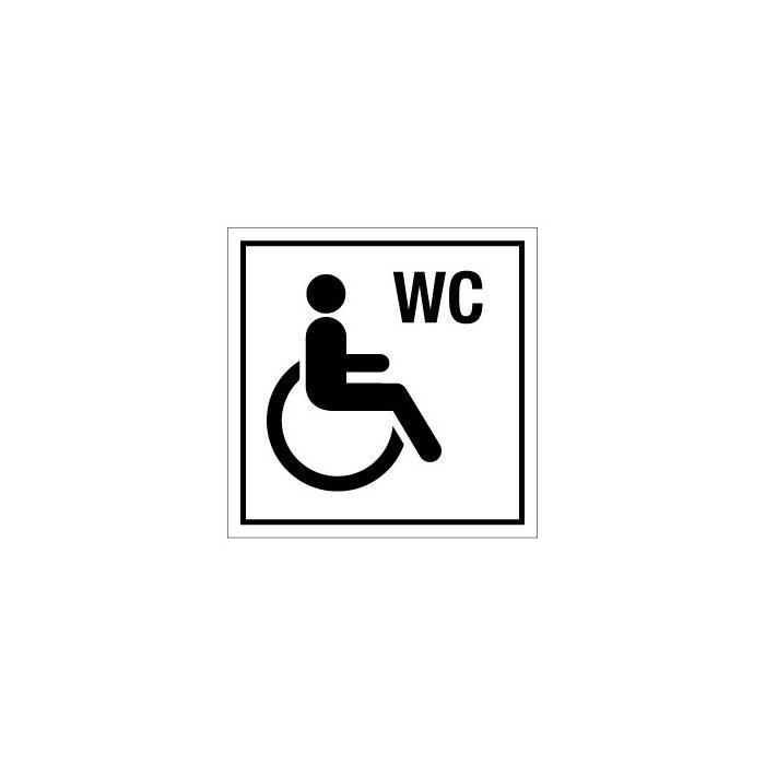 Porta con la scritta bagno per disabili 50 mm a 400 mm - Obbligo bagno disabili ...
