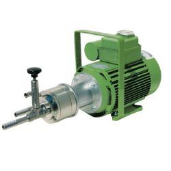"""Pompe à rouleaux  """"R-NNPTF8/1400"""" - 230 V - max. 18 l / min - à 8 bar - PTFE - max. Profondeur de 6 m d'aspiration - avec régulateur de pression - pour l'acide, l'acide propionique, l'acide formique"""