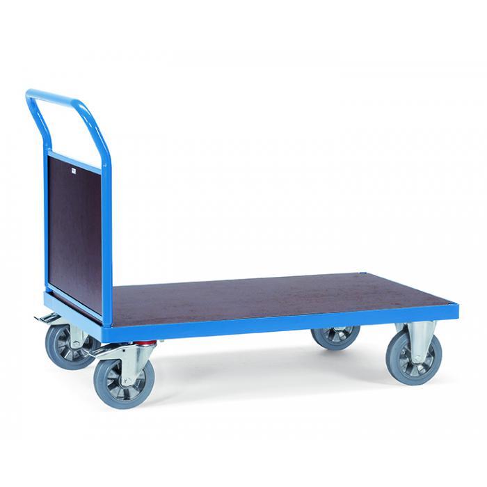 Chariot à plate-forme - avec un mur de bois final - 1200 kg
