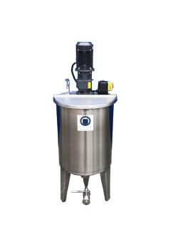 Rührwerksbehälter Typ CILC100BRWS - mit Getrieberührwerk SRTGMK/0,12-100 - Edelstahl - 109 l - Behälter 477 mm - einwandig
