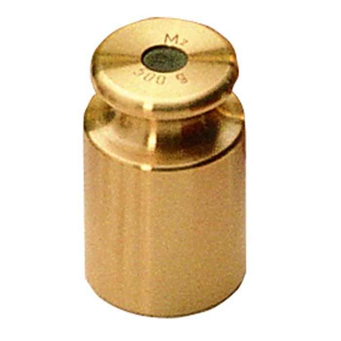 Test vægt M 3 - 1 g til 2 kg - knap form - fint drejet messing