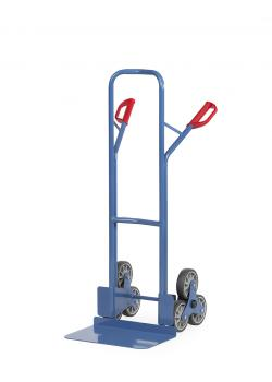 Stairclimber - to 200 kg - with 2 three-arm wheel-stars - wide blade