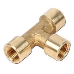 """T-Piece - Brass - 3 x Female - 1/8"""" To 2"""""""