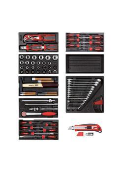 GEDORE red Werkzeugsatz - in Schaumstoffmodulen - 81-teilig