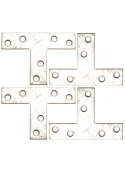 Winkel - T-Form -  70 x 50 x 16 mm - verzinkt - 4-tlg.