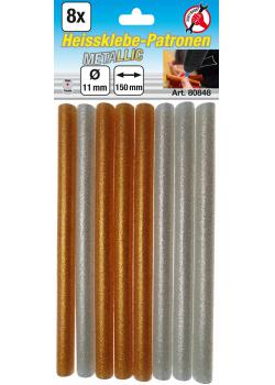 Heissklebe-Patronen - Metallic - 11 mm x 150 mm - 8-tlg.