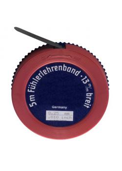 Spessimetro banda - Dimensioni (L x B) 5 m x 13 mm - Materiale acciaio temprato - spessore da 0,01 a 0,95 mm