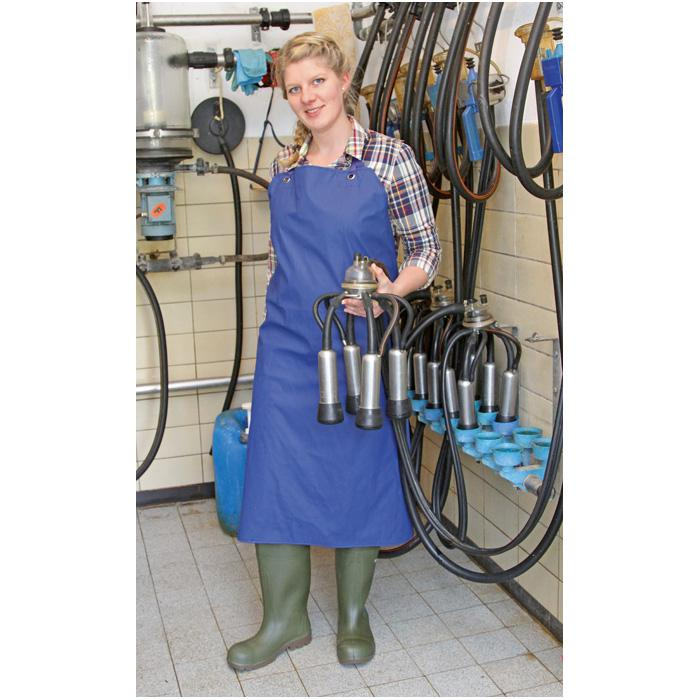 Melk- und Waschschürze PU - Breite 80 bis 100 cm - Länge 120 bis 125 cm - blau
