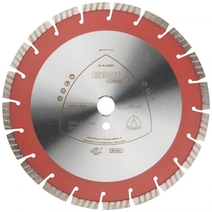 Diamanttrennscheibe DT 900 B - Durchmesser 300 bis 400 mm - Bohrung 20 bis 25,4 mm - lasergeschweißt - Turbo