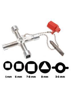 Universal Schaltschrank Schlüssel - Maße 72 x 72 mm - Gewicht 80 g