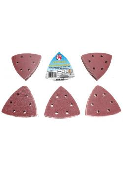 Schleifblätter - für Dreieckschleifer - Maße 95 x 95 mm - 50-tlg.