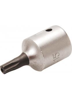 """Bit-Einsatz - TS-Profil mit Stirnbohrung - Antrieb 6,3 mm (1/4"""") - Größe TS 25"""