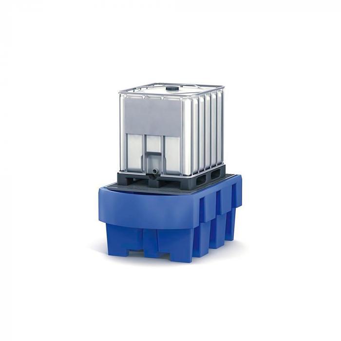 Auffangwanne classic-line - Polyethylen (PE) - für IBC - mit Abfüllbereich u. verzinktem Gitterrost