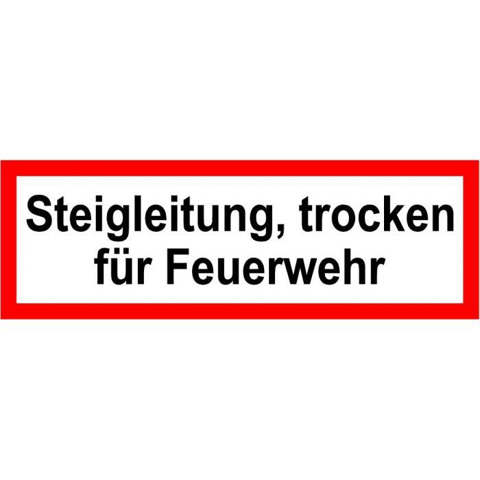 """Brandschutz - """"Steigleitung trocken, für Feuerwehr"""""""