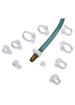 Schlauchschellen aus POM - für Schlauch-Ø 9-10 mm bis 23-25 mm - VE 10 Stück - Preis per VE