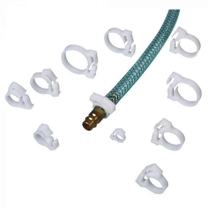 Colliers de serrage en POM - pour tuyau Ø 9-10 mm à 23-25 mm - UE 10 pièces - Prix par UE