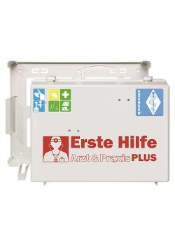 Första hjälpen kit - läkare och praktik PLUS - ABS plast - 400 x 300 x 150 mm