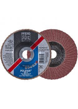 Fächerschleifscheibe - PFERD POLIFAN® - für Stahl/INOX/Kunststoff - flache Profi-Ausführung - Preis per Stück