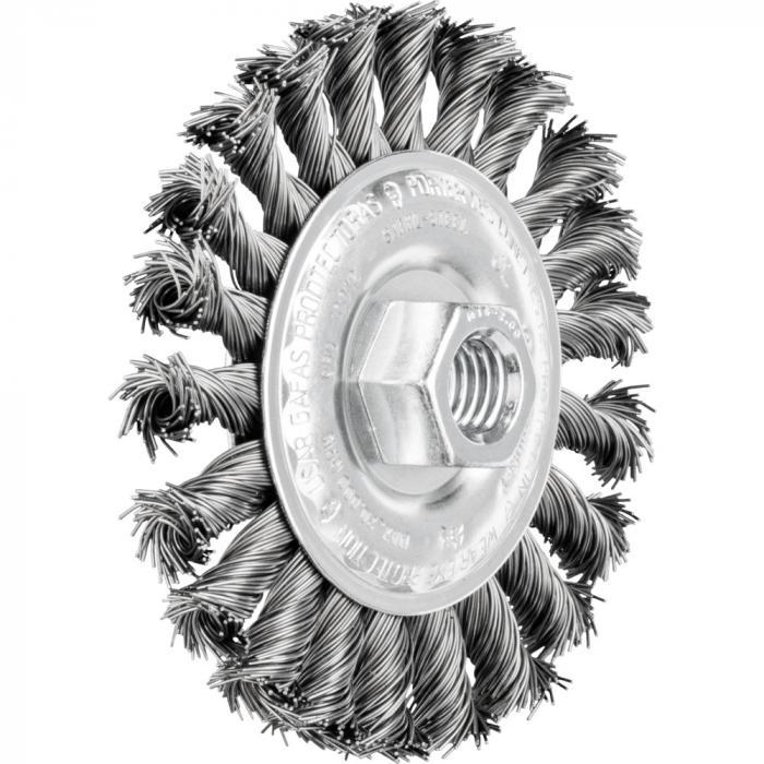 PFERD Rundbürste POS RBG - gezopft - Stahldraht - Außen-ø 100 bis 178 mm - Anzahl Zöpfe 24 und 30 - Besatzmaterial-ø 0,50 bis 0,80 mm