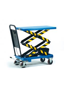 Lifting platform - up to 500 kg - tubular push handle bolted fixed - Double scissors for large lift range