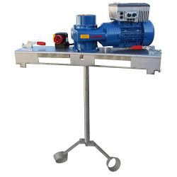 Worm Gear agitator - for IBC 1000 liters to 20000 mPas & Media