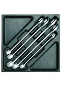 Ring-Maulschlüssel-Satz - in 2/3 ES-Modul - Gewicht 2,348 Kg