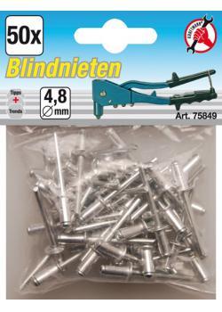 Blind rivets range - aluminum with steel pin - 4.8 mm - 50 pcs.