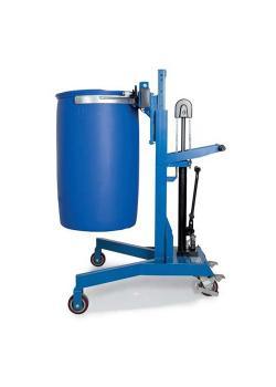 Fasslifter Servo Eco LD-SK - Stahl lackiert - für 200 und 220-Liter-Fässer - Fahrwerk V-Form