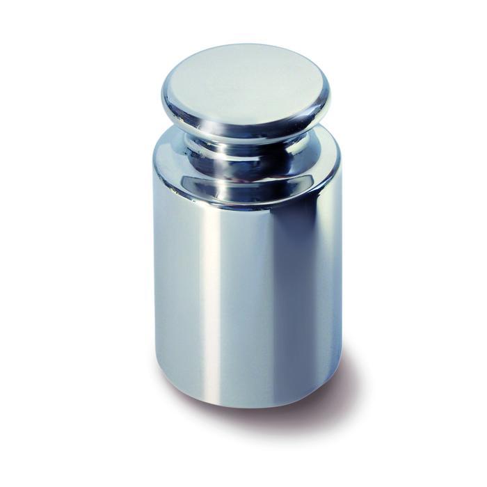 Peso di calibrazione E1 - da 1 g a 50 kg - con bottone di presa - in acciaio inox