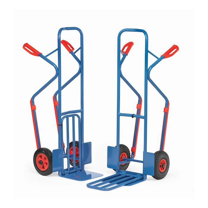 Package trolley - 300 kg - Height 1300 mm - Kunststoffgleitkufen - Klappschaufel