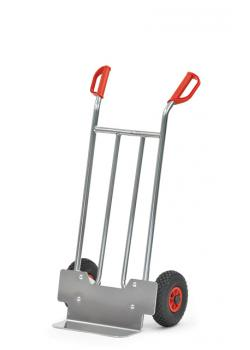 Alu hand truck - air / solid rubber - blade length 150 - height 1150 mm