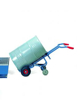 Drum truck - with 2 support wheels - carrying capacity 300 kg