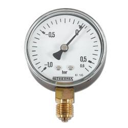 Restposten - Manometer - Ø 63 mm - Anzeige -1 bis 0,6 bar