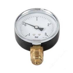 Restposten - Manometer - Ø 80mm - Anzeige: -1 bis 3 bar