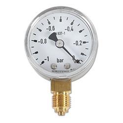 Restposten - Manometer Ø50mm - Anzeige  -1 bis 0 bar