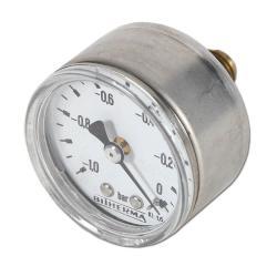 Restposten - Manometer - Ø 50 mm - Anzeige -1 bis 0 bar