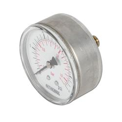 Restposten - Manometer - Ø 63 mm - Edelstahl blank - Anzeige 0 bis 1,6 bar