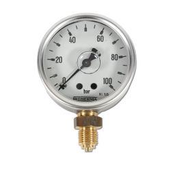 Restposten - Rohrfedermanometer - Ø 63 mm - Glyzerin-Standard 1.6