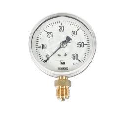 Restposten - Rohrfedermanometer - Ø100 mm - Glyzerin-Standard 1.0