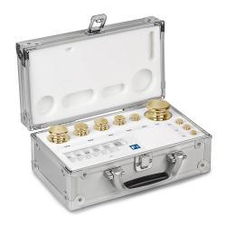 Gewichtsatz M2 - Messing feingedreht - 1 bis 100 g - im Aluminiumetui