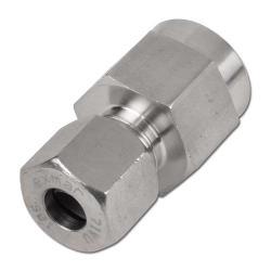 Skruvkopplingsanslutning med klämring - stål/rostfritt stål