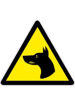 """Varningsskylt """"vakthund"""" - sidolängd 5-40 cm"""