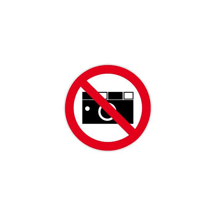 Verbotszeichen - Fotografieren verboten Durchmesser 5-40 cm