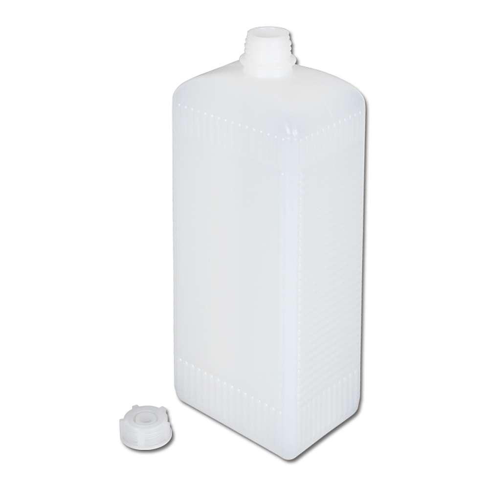 Vierkantflasche - mit Schraubverschluss - 100-1000 ml