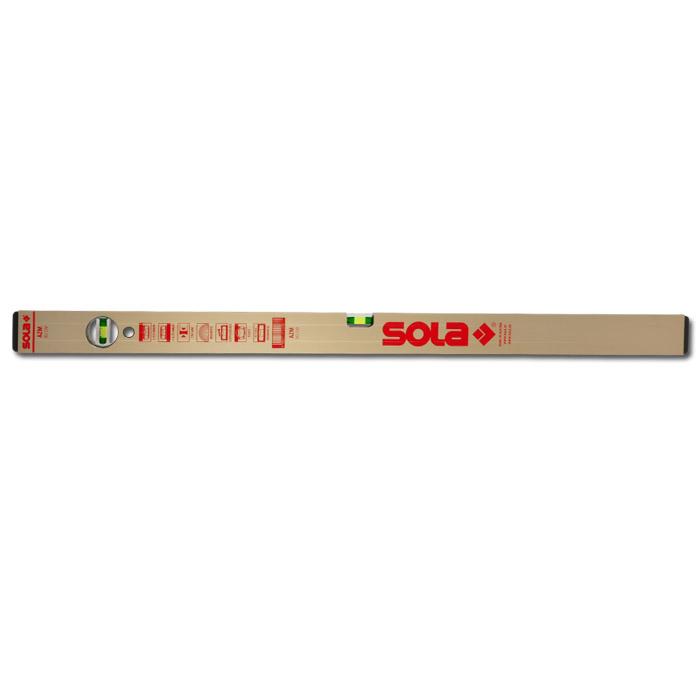 Vattenpass - Sola AZM - aluminium - guld - 30-120 cm - 2 libeller