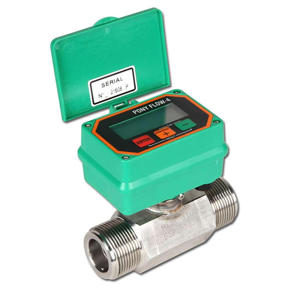 "Flowmeter - elektronisk - ""BINDA PONY FLOW"" - rustfrit stål"